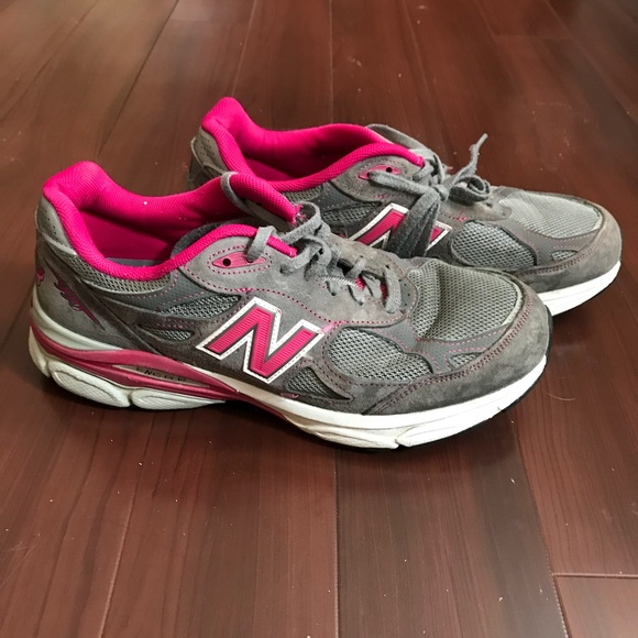 innovative design f9544 b6e4d New Balance 990 Grey Pink Womens Shoes Size 10.5 D